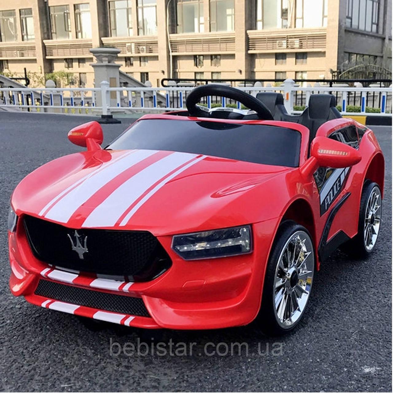 Электромобиль спорткар T-7624 RED для деток 3-8 лет с пультом мотор 2*20W с MP3