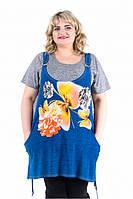 Комплект женский состоит из футболки и туники на бретельках (795Б) , фото 1
