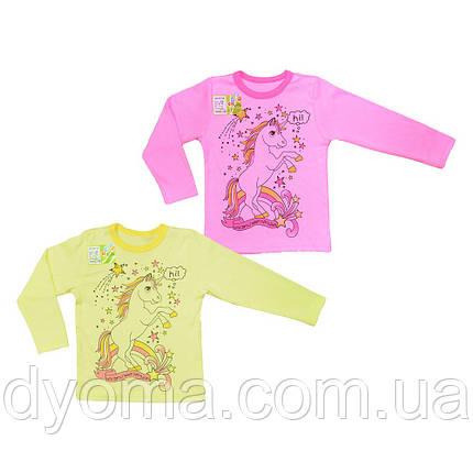 """Детская футболка с длинным рукавом """"Единорог"""" для девочек, фото 2"""