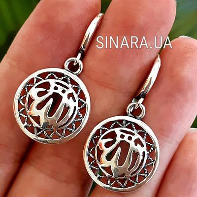 Срібні сережки Акбар