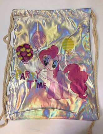 Металлизированная сумка для сменной обуви , фото 2