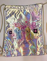 Металлизированная сумка для сменной обуви , фото 3