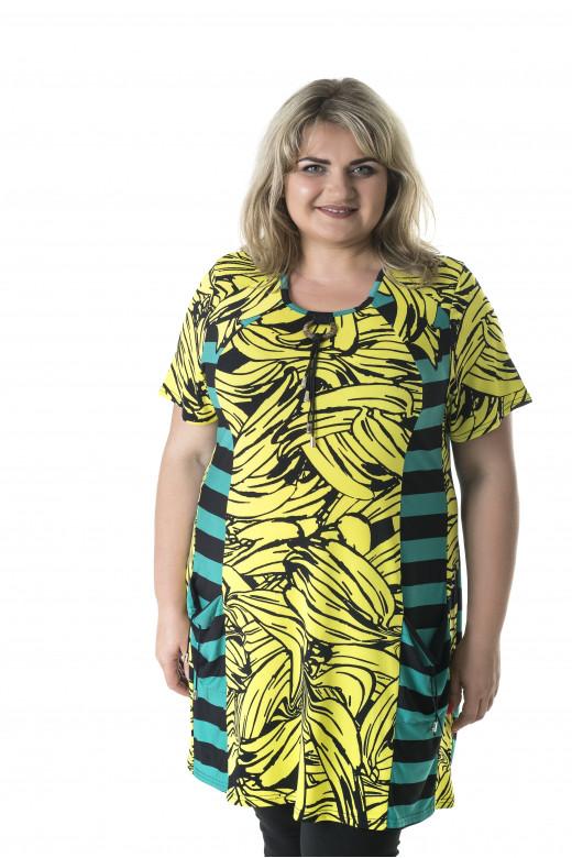 "Туника женская ""Банан"" больших размеров (733Б)"