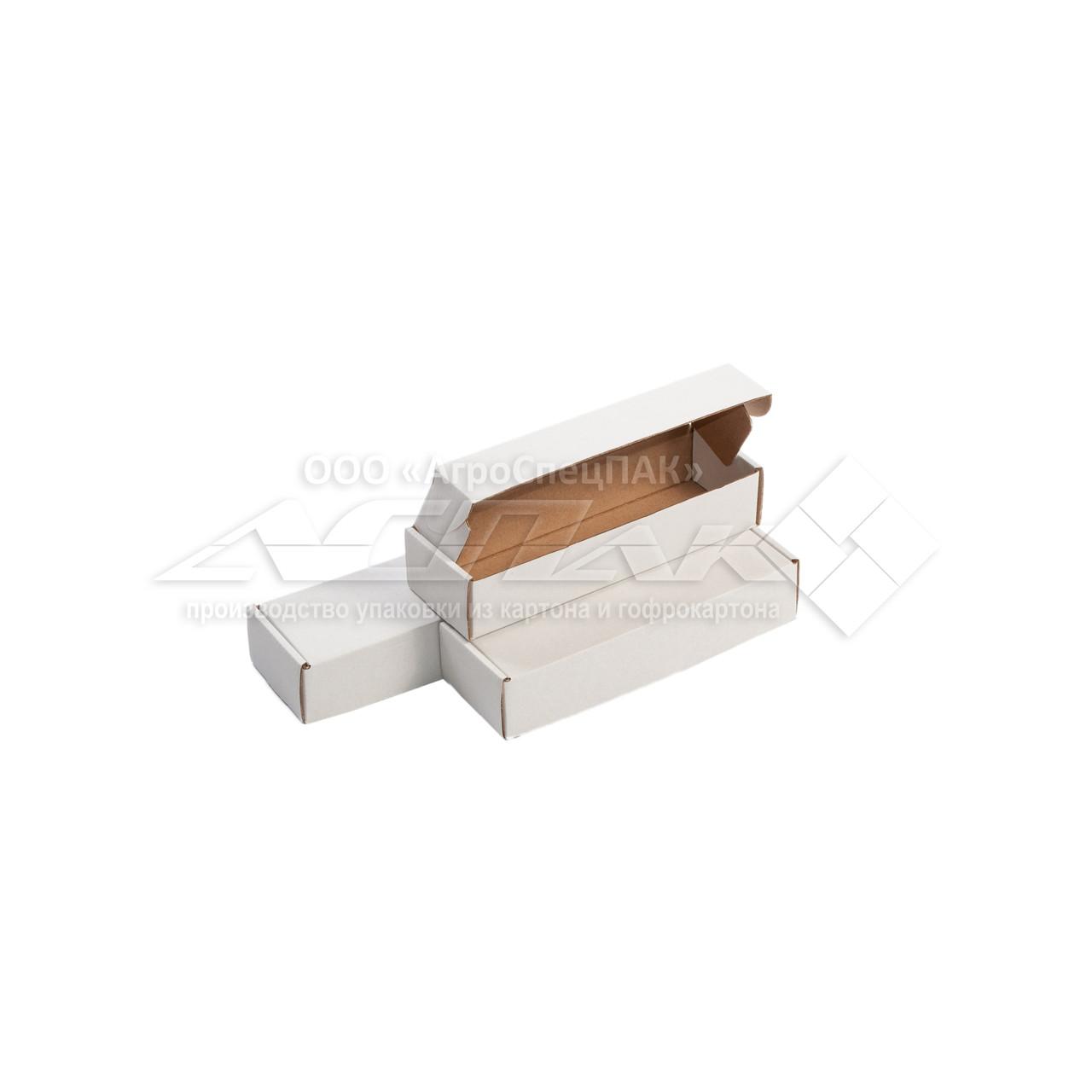 Картонные коробки самосборные 200х62х40 белые