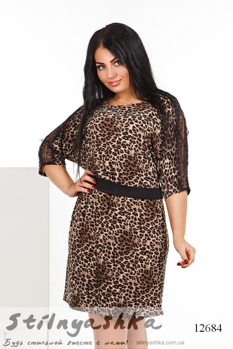 леопардовое платье батал