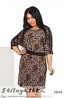 Леопардовое платье для полных , фото 1