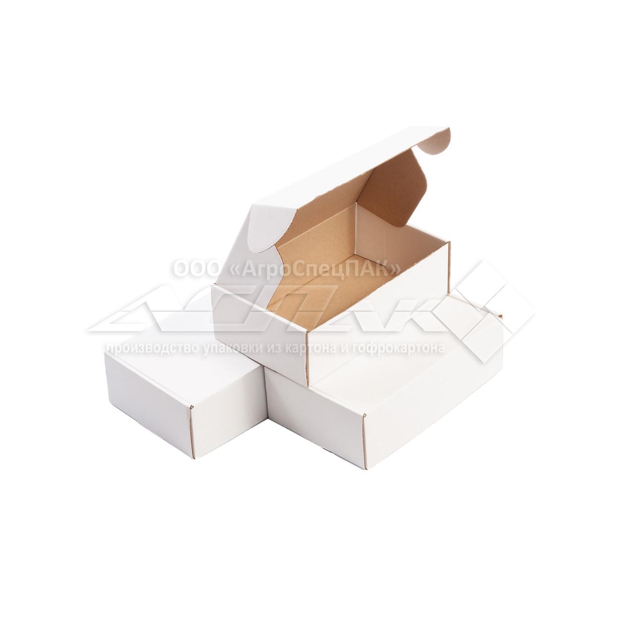 Картонные коробки самосборные 215*130*65 белые