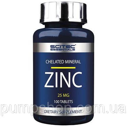 Цинк Scitec Nutrition Zinc 25 мг 100 капс., фото 2