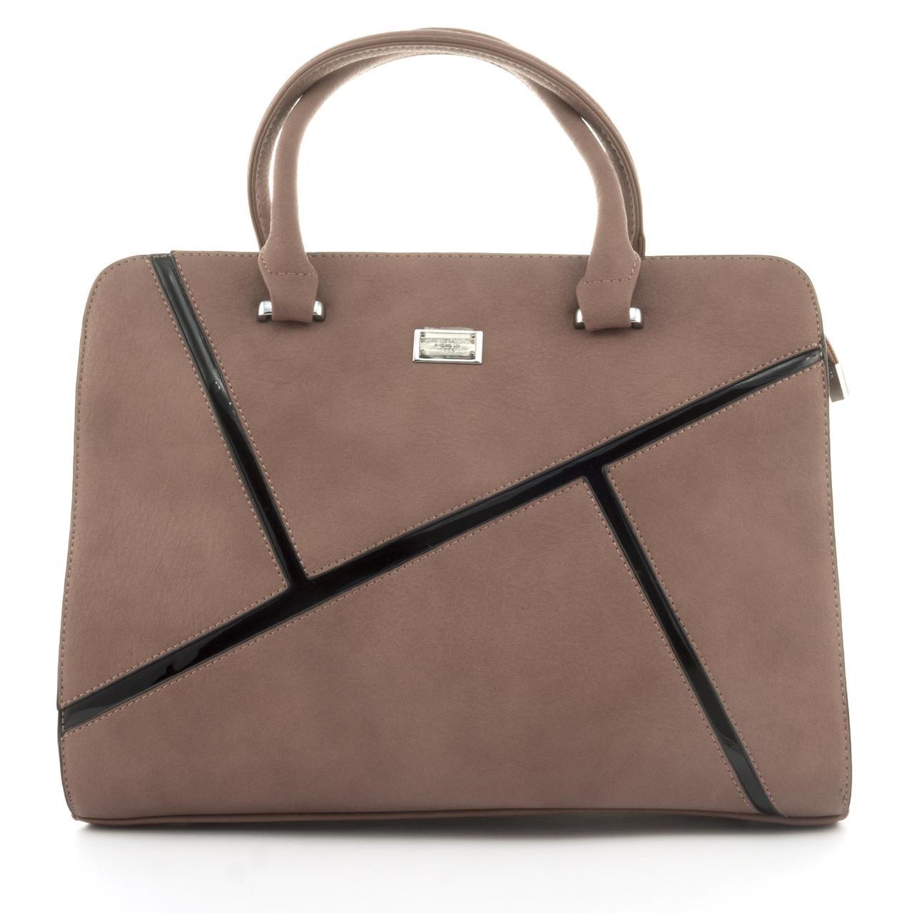 Оригинальная каркасная прочная элегантная женская сумка высокого качества ShengMa art. 881276 сиреневая
