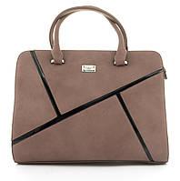 Оригинальная каркасная прочная элегантная женская сумка высокого качества ShengMa art. 881276 сиреневая, фото 1