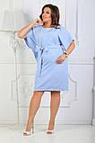 Платье летнее батал 50-54р цвета в ассортименте, фото 3