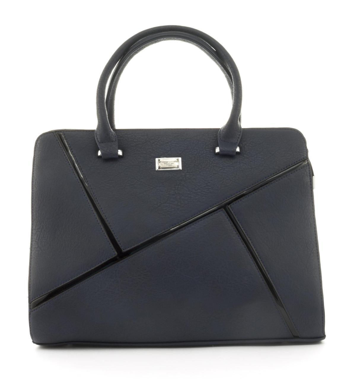 Оригинальная каркасная прочная элегантная женская сумка высокого качества ShengMa art. 881276 синяя