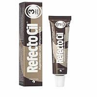 RefectoCil №3. Краска для бровей и ресниц натурально, коричневая.