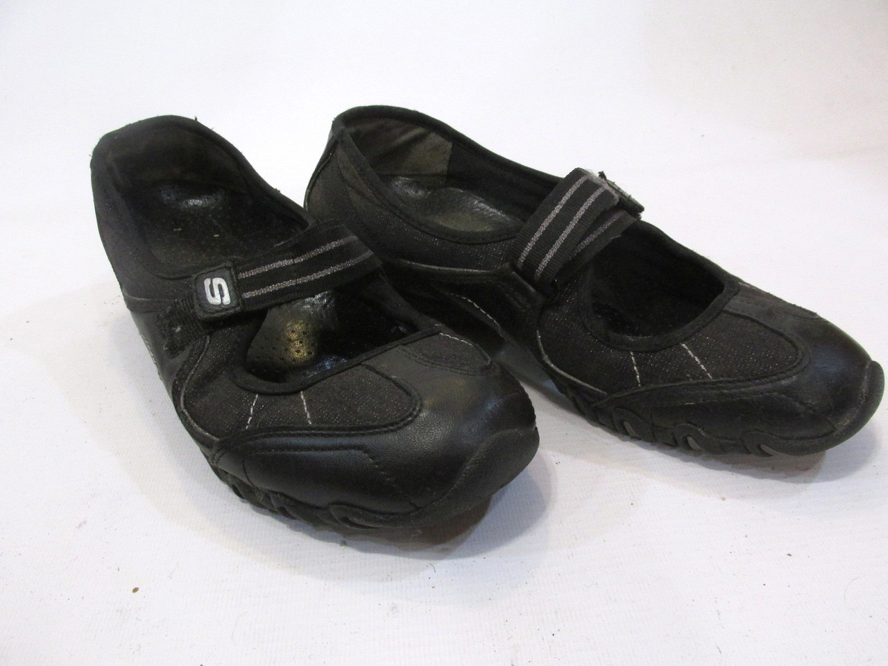 Кроссовки тапочки Skechers, 38 (24.5 см), кожа-текстиль, на шир ногу,