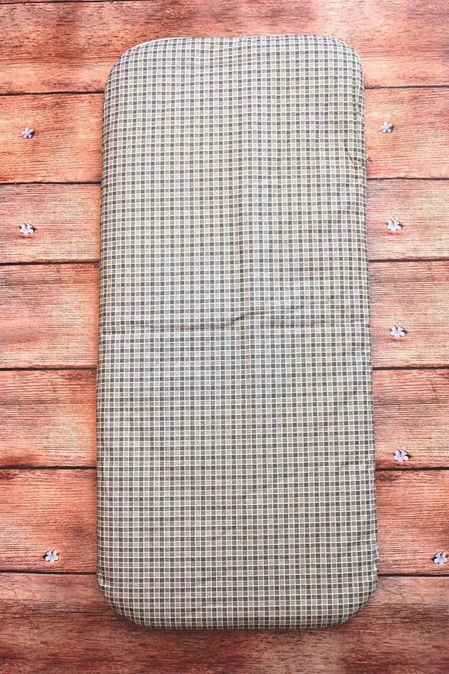 Матрас в коляску (кокос) 80х36х2 см (серый)