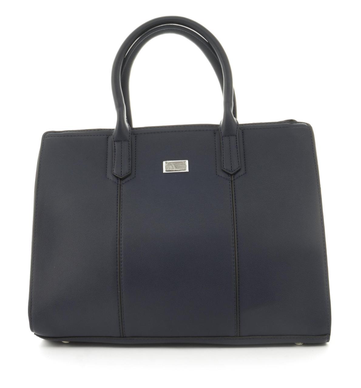 Оригинальная каркасная прочная элегантная женская сумка высокого качества LUSHA art. 865887 синяя