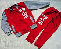 Трикотажный спортивный костюм с надписью New York 30-42 р