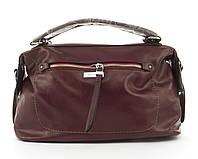 Стильная женская качественная сумка саквояж с мягкой эко кожи BALIVIYA art. 7305 бордовая, фото 1