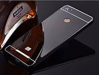Зеркальный Чехол/Бампер для Xiaomi Redmi 4a Чёрный (Металлический), фото 1
