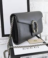 Женская сумка в стиле Gucci Dionysus Mini Chain Bag Black (3445), фото 1