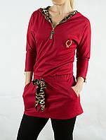Туника красная с капюшоном SASSOFONO 81117 , фото 1