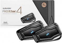 Переговорное Bluetooth устройство Scala Rider Freecom 4, двойной комплект