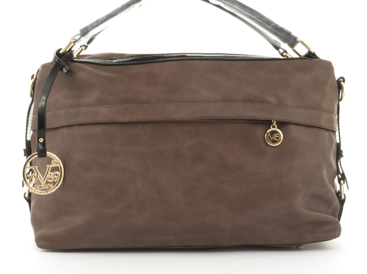 Стильная вместительная женская качественная сумка саквояж с мягкой эко кожи BALIVIYA art. 7348 сиреневая