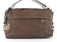 Стильная вместительная женская качественная сумка саквояж с мягкой эко кожи BALIVIYA art. 7348 сиреневая, фото 1
