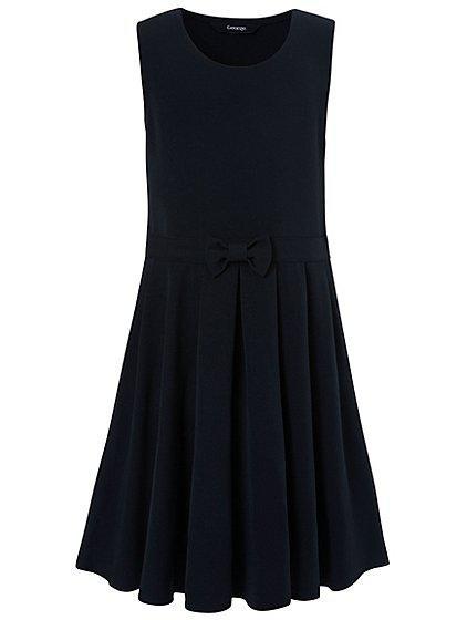 Школьное платье-сарафан темно-синий на девочку 8-9 лет Navy George (Aнглия)