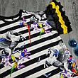 Футболка полосатая чёрно-белая - 532-80826, фото 4