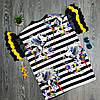 Футболка полосатая чёрно-белая - 532-80826