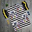 Футболка полосатая чёрно-белая - 532-80826, фото 6