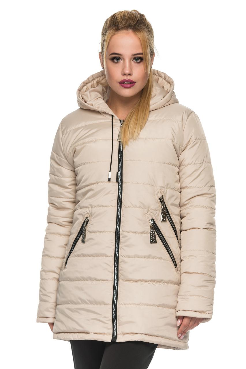 461edb51 Модная куртка с капюшоном женская Zoryana (44–52р) в расцветках ...