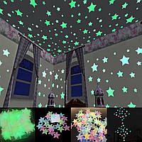 Звезды для декора стен и потолка, светящиеся ночью