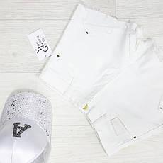 Шорты джинсовые белые - 534-208-1, фото 3