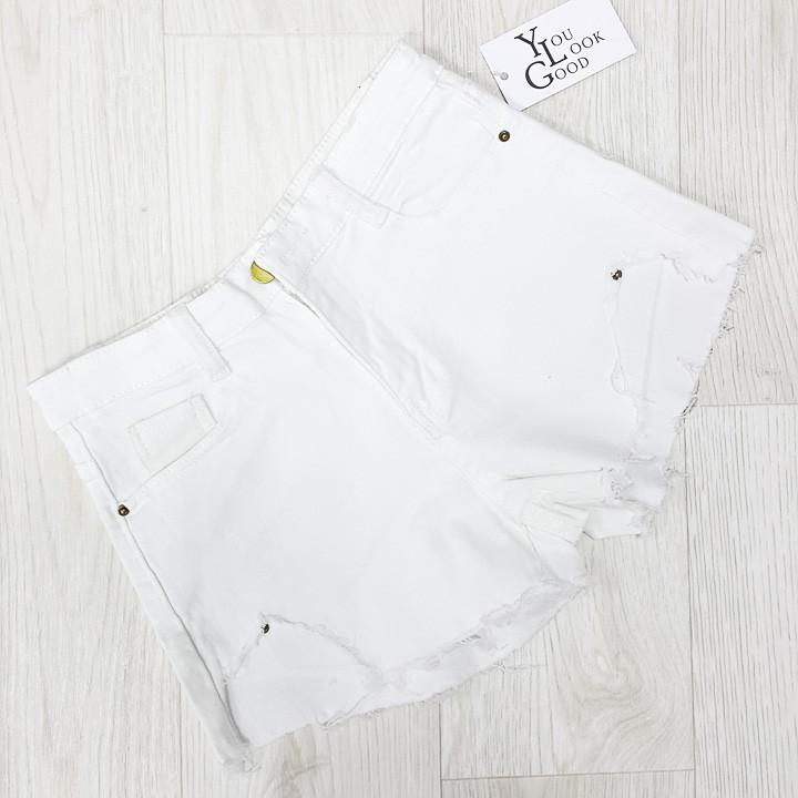Шорты джинсовые белые - 534-208-1