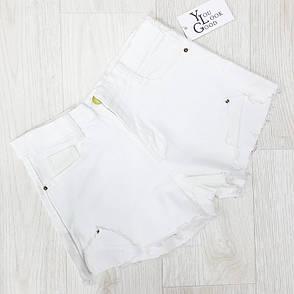 Шорты джинсовые белые - 534-208-1, фото 2
