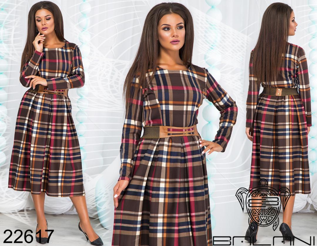 938531740e3c Платье в клетку миди большого размера ТМ Balani р. 48-54 купить в ...