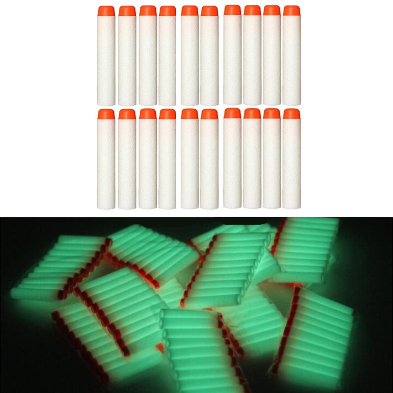 Набор светящихся стрел (20 шт) для игрушечного оружия Nerf N-Strike Elite (мягкие пули)