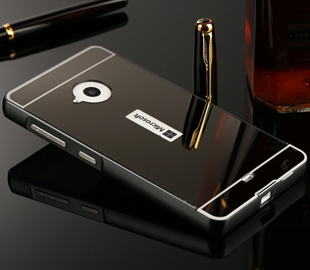 Чохол для Microsoft Lumia 535 (Nokia) Дзеркальна чорний