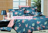 """Комплект постельного белья из ранфорса ТМ """"Ловец снов"""", Фламинго"""