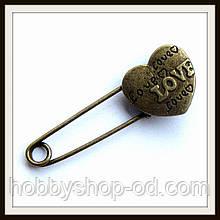 Брошка Балі Серце (бронза)
