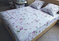 Комплект постельного белья бязь Голд Пионы Евро