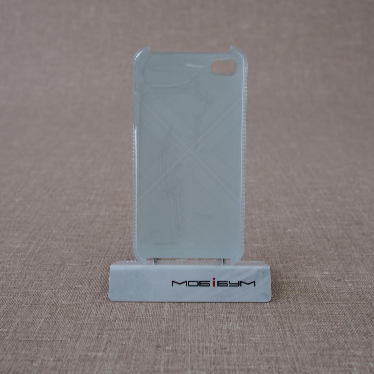 White Diamonds Grid black iPhone 4 4S