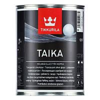 Тайка (Taika) декоративная перламутровая лазурь, HL (серебристая),  0,9л
