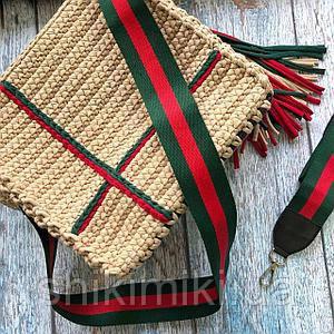 Плечевой ремень 3 полосы, цвет красно-зеленый