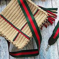 Плечевой ремень Gucci, цвет красно-зеленый
