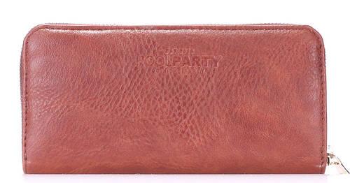 Модный кошелек из искусственной кожи POOLPARTY Артикул: brown-pu-wallet коричневый