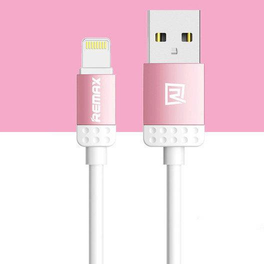 USB кабель Remax Lovely RC-010i Lightning, 1m pink