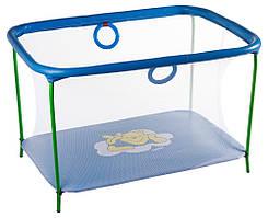 Манеж Qvatro LUX-02 мелкая сетка синий Winnie Pooh